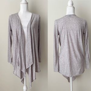 ASOS linen blend gray cardigan
